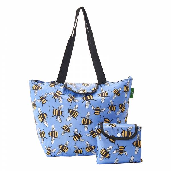 E14 Blue Bees Large Cool Bag x2