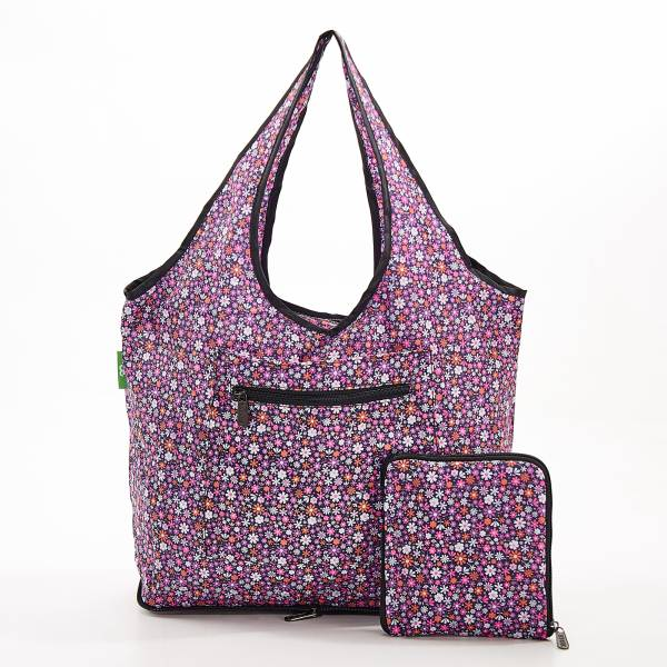F01 Purple Ditsy Weekend Bag x2