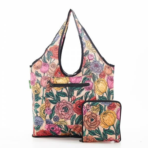 F06 Beige Peonies Weekend Bag x2
