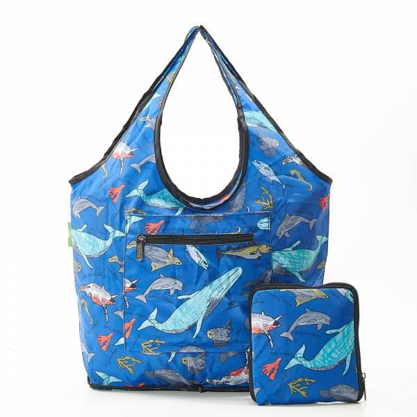 F07 Blue Sea Creatures Beach Bag x2