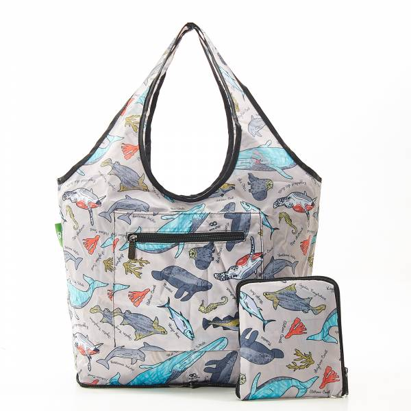 F07 Grey Sea Creatures Weekend Bag x2
