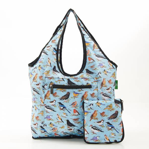 F08 Blue Wild Birds Weekend Bag x2