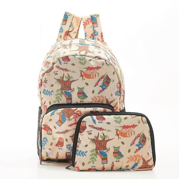 G02 Beige Owl Backpack Mini x2