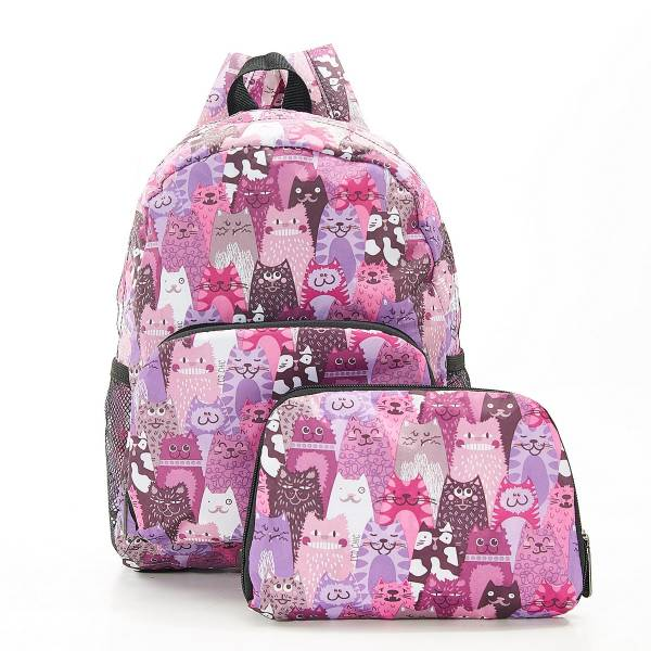 G07 Purple Stacking Cats Backpack Mini x2