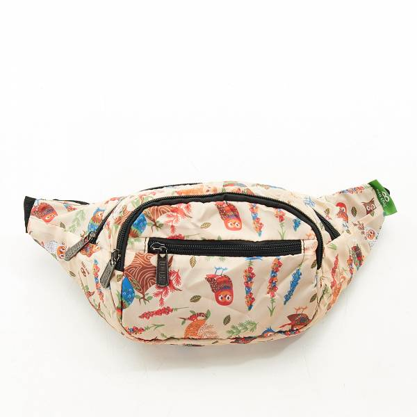 H03 Beige Owl Bum Bag x2