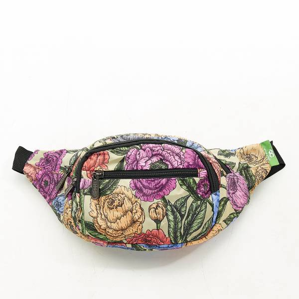 H04 Green Peonies Bum Bag x2