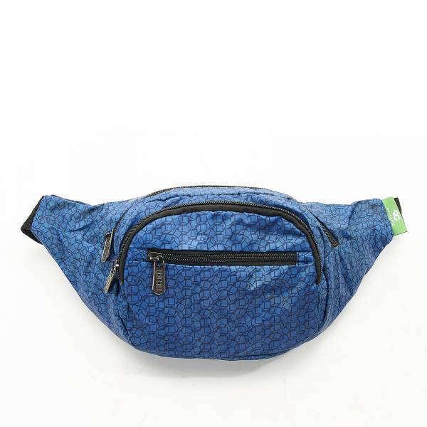 H06 Navy Disrupted Cubes Bum Bag x2