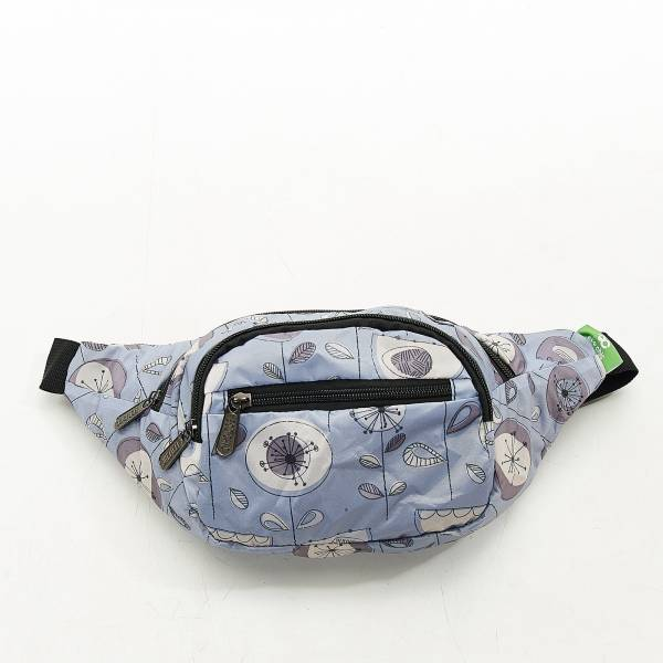 H09 Grey 1950's Flower Bum Bag x2