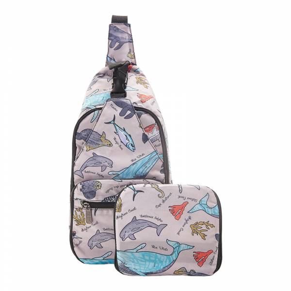 I05 Grey Sea Creatures Cross Body x2
