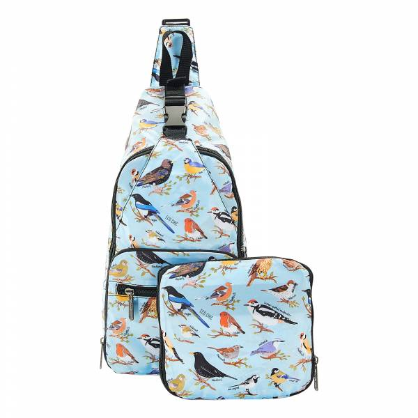 I07 Blue Wild Birds Cross Body x2