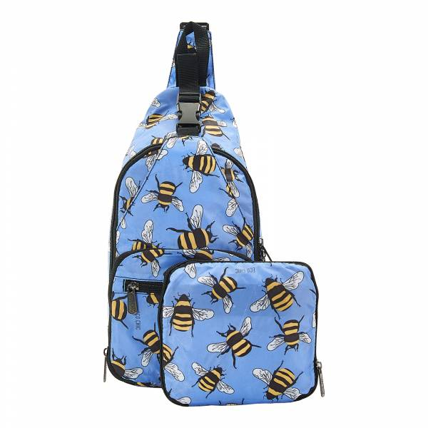 I13 Blue Bees Cross Body x2
