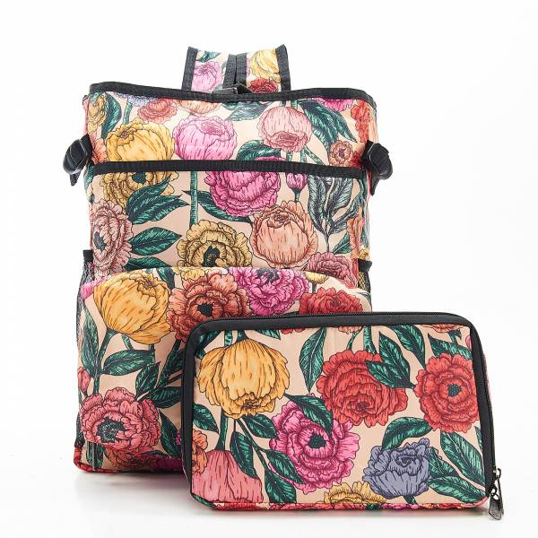 J03 Beige Peonies Cool Backpack