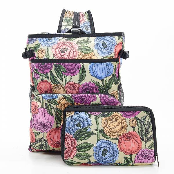 J03 Green Peonies Cool Backpack