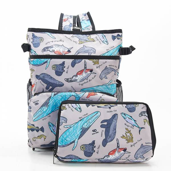 J04 Grey Sea Creatures Cool Backpack