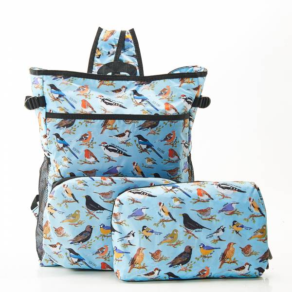 J06 Blue Wild Birds Cool Backpack