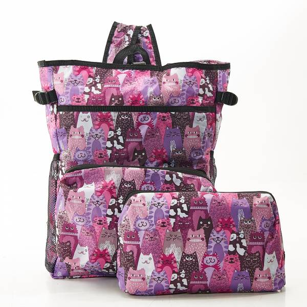 J07 Purple Stacking Cats Cool Backpack