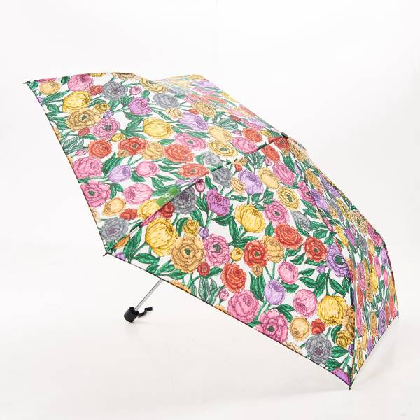K04 Beige Peonies Mini Umbrella x2