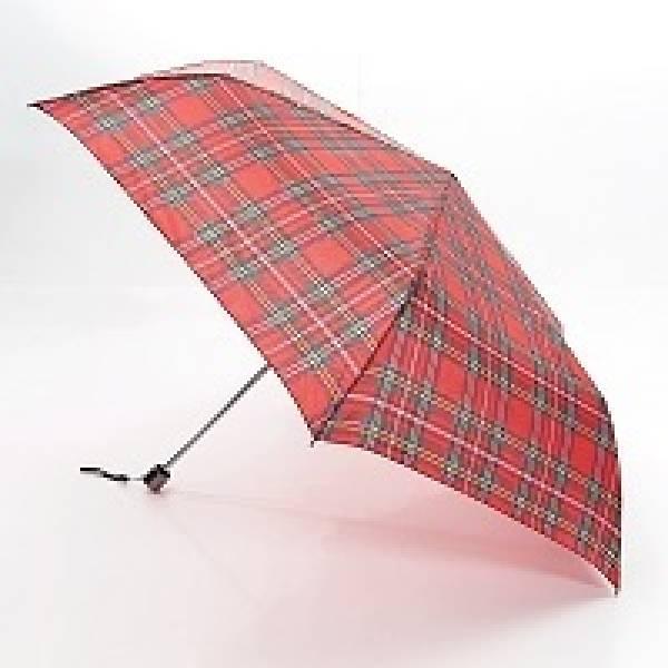K09 Red Tartan Mini Umbrella x2