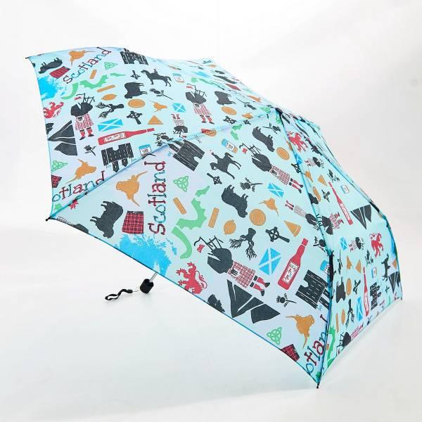 K12 Blue Scottish Montage Mini Umbrella x2
