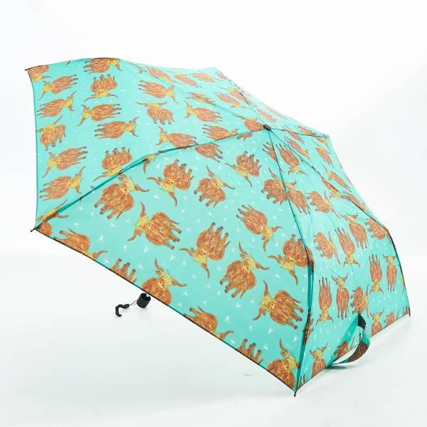 K14 Green Highland Cow Mini Umbrella x2