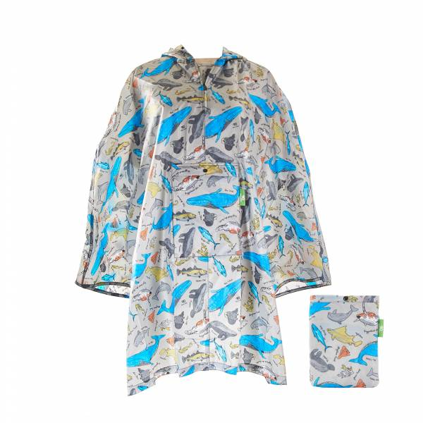L05 Blue Sea Creatures Ponchos x2