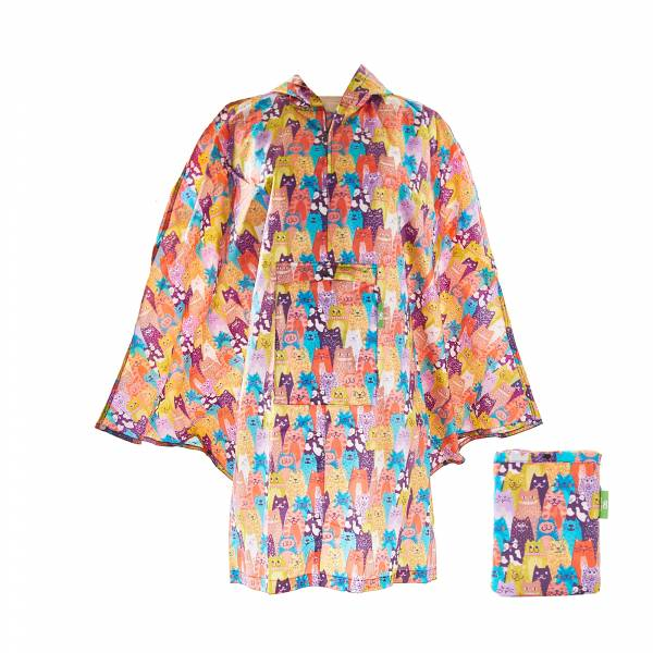 L06 Multiple Stacking Cats Ponchos x2