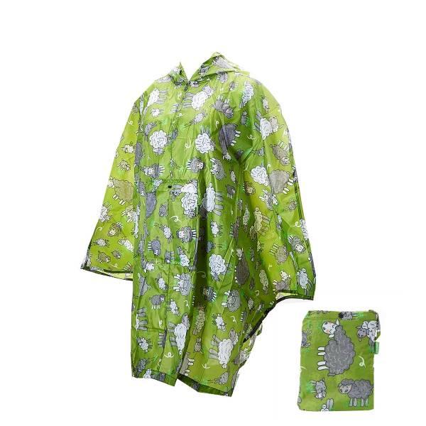 L11 Green Sheep Foldable Poncho x2