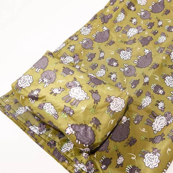 P05 Green Sheep Picnic Blanket