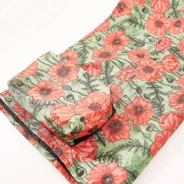 P06 Green Poppies Picnic Blanket