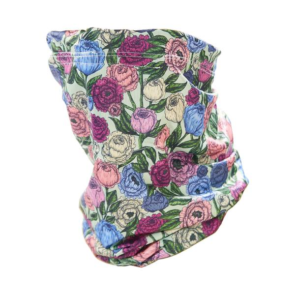 S07 Green Peonies Snood
