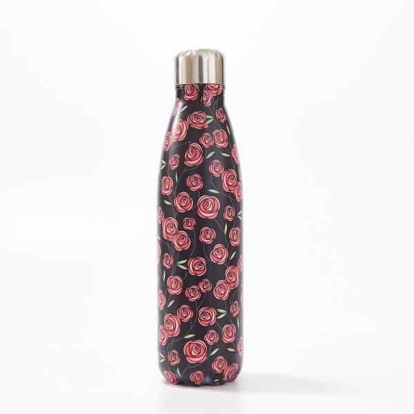 T23 Black Mackintosh Rose Thermal Bottle