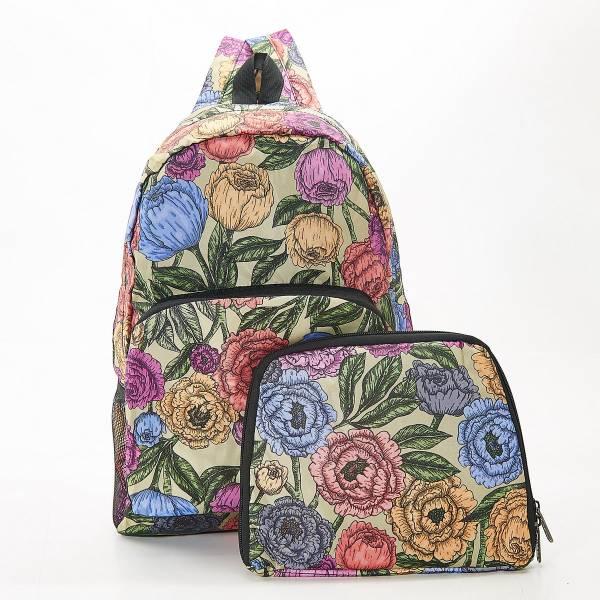 B11 Green Peonies Backpack x2