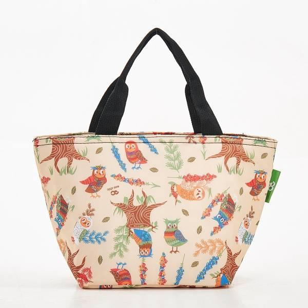 C07 Beige Owl Lunch Bag x2