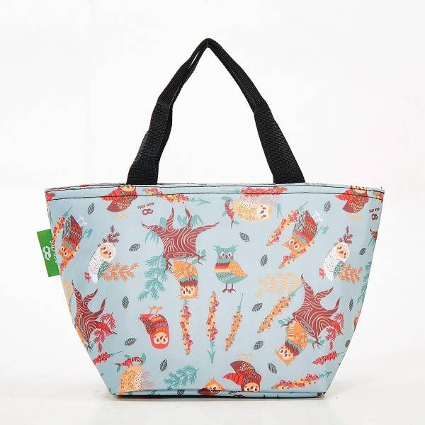 C07 Blue Owl Lunch Bag x2