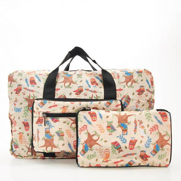 D07 Beige Owl Holdall x2