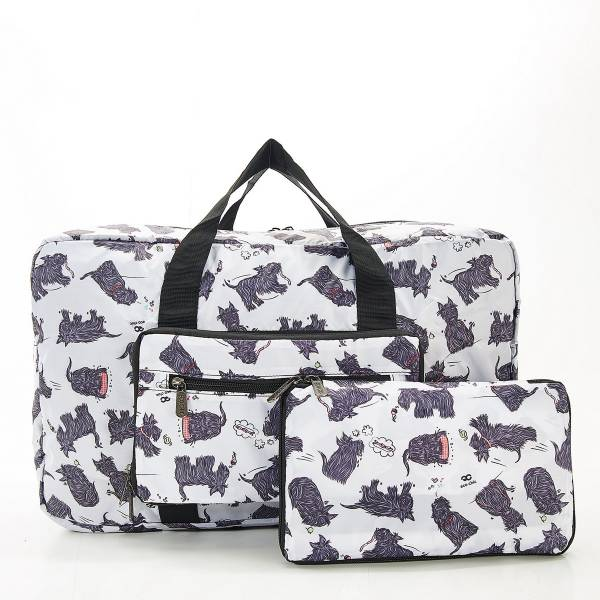 D08 White Scatty Scotty Holdall x2