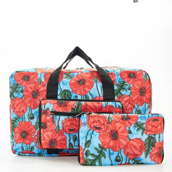 D09 Blue Poppies Holdall x2