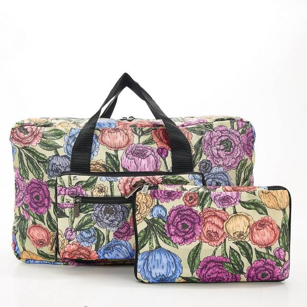 D11 Green Peonies Holdall x2