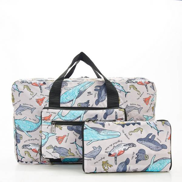 D12 Grey Sea Creatures Holdall x2