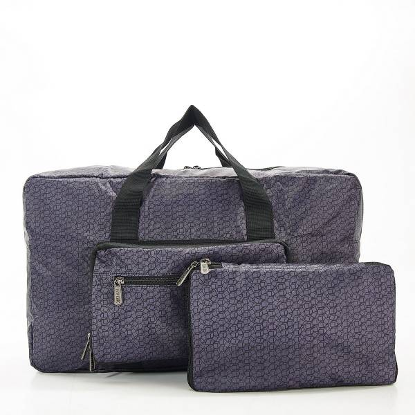 D13 Black Disrupted Cubes Holdall x2