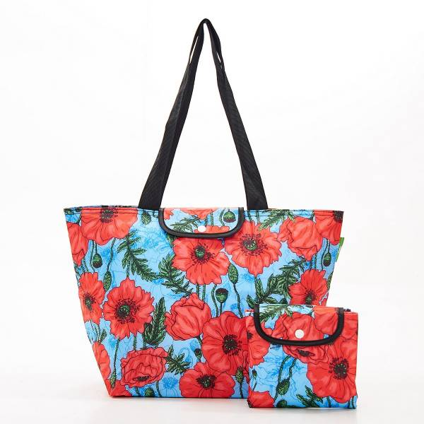 E05 Blue Poppies Large Cool Bag x2