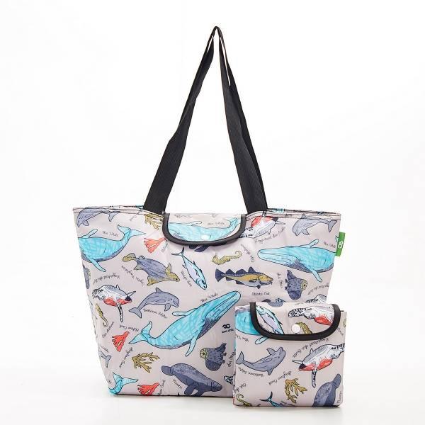 E07 Grey Sea Creatures Large Cool Bag x2