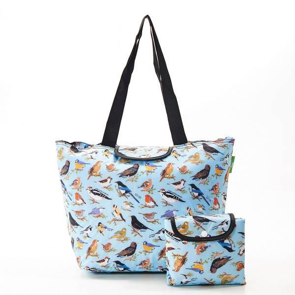 E08 Blue Wild Birds Large Cool Bag x2