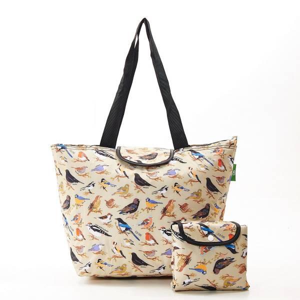 E08 Green Wild Birds Large Cool Bag x2