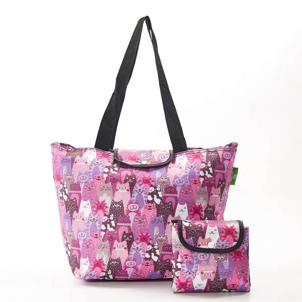 E10 Purple Stacking Cat Large Cool Bag x2