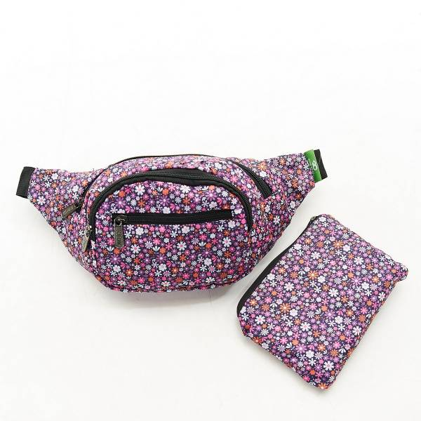 H01 Purple Ditsy Bum Bag x2