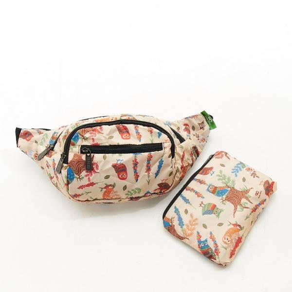H03 Beige Owl Bum Bag x2