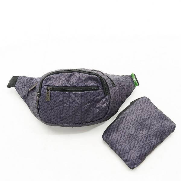 H06 Black Disrupted Cubes Bum Bag x2