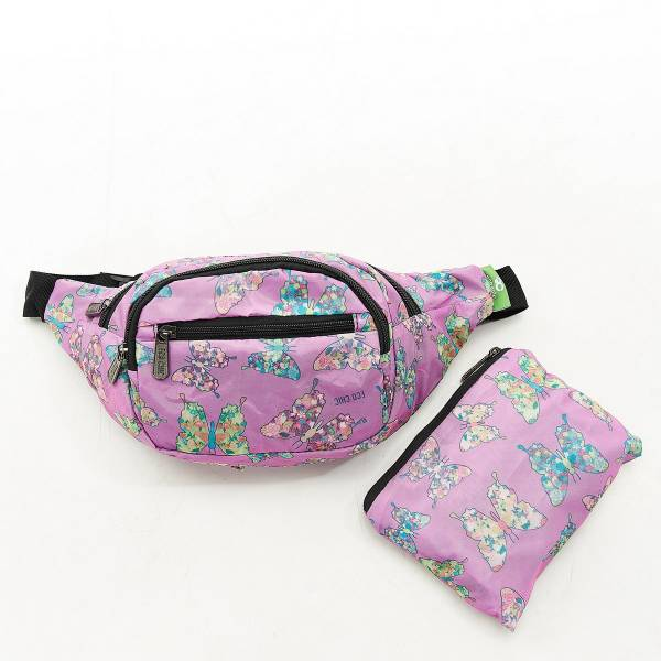 H07 Lilac Butterfly Bum Bag x2