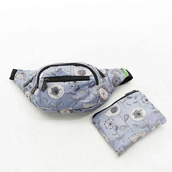 H09 Grey 1950's Flower Bum Bag x2